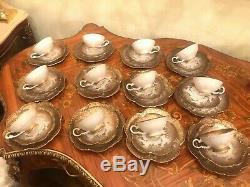 12 Cups Saucers Dishes Set Rare Bavaria Johann Seltmann Germany Tea, Coffee