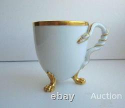 1900 Meissen Antique Porcelain Tea Cup Empire Style Marked Made in German