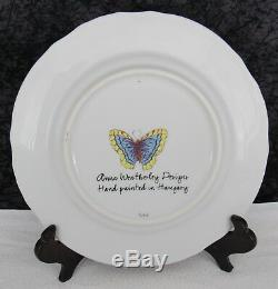 5 Pc Anna Weatherley Green Leaf Porcelain Place Setting Plates, Tea Cup & Saucer