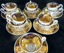6 SETS C1830 ANTIQUE RIDGWAY PORCELAIN TRIO TEA COFFEE CUP & SAUCERS P. 2/1088 b