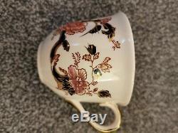 6x Mason Ironstone Blue Mandalay Tea CupS And SaucerS. AMAZING CONDITION