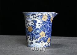 999 sterling silver tea set health care Jingdezhen porcelain tea pot pitcher cup