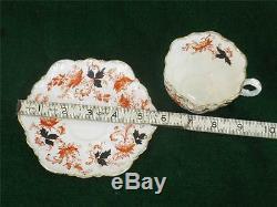 ANTIQUE PARAGON CHINA TEA CUP SAUCER GOLD GILT FINE BONE CHINA England Porcelain
