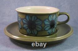 ARABIA OF FINLAND, Vintage, Hand Painted Tea Cup & Saucer, Excellent Condition