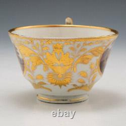 A Fine Derby Porcelain Named Landscape Tea Cup and saucer c1815