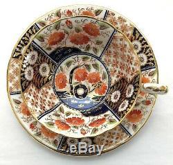 A Set of 8 Wedgwood Japan Pattern Imari Tea Cups & Saucers, T Goode England