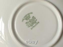 Antique 1890's Foley England green gold bone china teacup tea cup and saucer