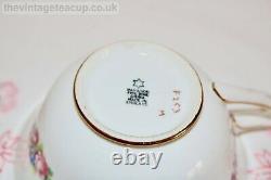 Antique 1920 Paragon Star Pink Rose Gold English bone china Tea Cup Saucer Plate