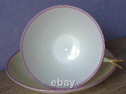 Antique 1930's Paragon England yellow bone china flower handle tea cup teacup