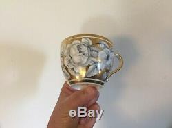 Antique 19th century London Bute Shape Porcelain Tea Cup & Saucer Spode New Hall