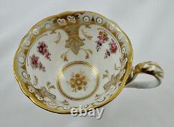 Antique Brown, Westhead & Moore Tea Cup & Saucer, c. 1850