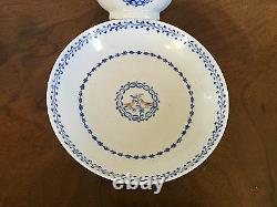 Antique Chinese Export Porcelain Tea Cup Bowl & Saucer Love Birds 19th century