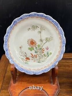 Antique Chinese Famille Rose tea cup dish