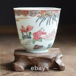 Antique Chinese Porcelain teacup Yongzheng Period Famille Rose 18th century