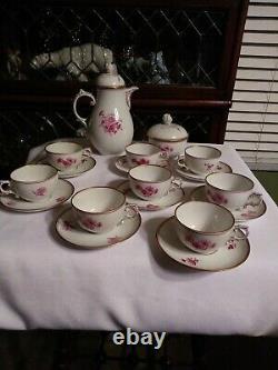 Antique Furstenberg German Porcelain Tea Set 18 Pieces Mark 1867 & later