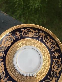 Antique Haviland Imperator Limoges Cream Cup Saucer 24k Gold Hand Decorations