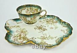 Antique Haviland Limoges Tea & Biscuit Tray