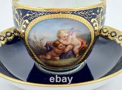 Antique KPM Royal Berlin Tea Cup & Saucer