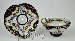 Antique Limoges Tea Cup & Saucer, Heart Shaped