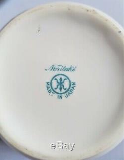Antique Noritake H/ Painted Gold Moriage Vintage Tea / Coffee Set Cups & Saucers