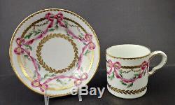 Antique Paris Tea Cup & Saucer, Sevres Style