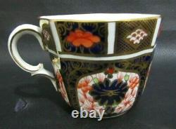 Antique Royal Crown Derby1128 Imari Cabinet Tea Cup, Saucer & Plate Dated 1918