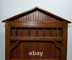 Antique Vintage 51h Wooden Spice Rack Shelf House Cabinet Tea Cup Display Curio