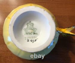 Antique Vintage Butterfly handle Anysley English bone china tea cup and saucer