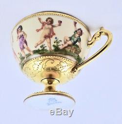 Antique Wehsner Dresden Tea Cup & Saucer