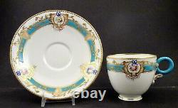 Antique Worcester Tea Cup & Saucer