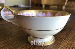 Aynsley Rare Pink Chrysanthemum & Butterfly Gold Tea Cup And Saucer, England