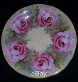 Aynsley Signed J. A Bailey Cabbage Roses Tea or Coffee Cup & Saucer Rare England