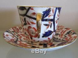 BLOOR DERBY BAMBOO PATTERN (Imari Pallet) 6 huge TEA CUPS & SAUCERS=c1830=RARE