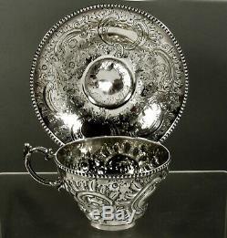 Bailey & Co. Silver Tea Set Cup & Saucer c1860 No Mono