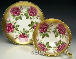 Beautiful Paragon Large Red Roses Tea Cup And Saucer Teacup