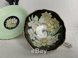 Beautiful Vintage Paragon China Tea Cup And Saucer Spring Bouquet Double Crest