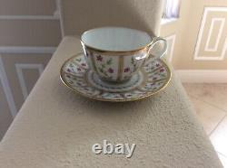 Bernardaud Roseraie 5oz tea cup and saucer. Ancienn Manufacture Royal Limoges