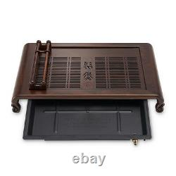 Brand quality handmade carved tea tray ebony solid wood tea table cup holder new