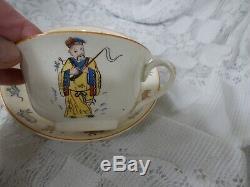 Canonsburg 1929 GENEVIEVE WIMSATT Tea Leaf Fortune Telling Cup / Saucer RARE