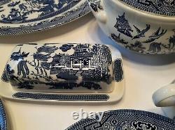 Churchill England Butter Dish, Casserole Dish Tea Cups & Saucers Platter 37 Pc