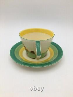 Clarice Cliff Bizarre Secrets Conical Tea Cup and Saucer Circa 1933