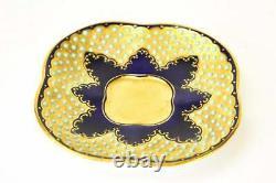Coalport Jeweled Gold Demitasse Tea Cup & Saucer 8642
