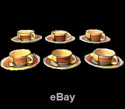 Coffee/Tea Set Six Cups Saucers Eva Zeisel Bauhaus Modernist Schramberg Art Deco