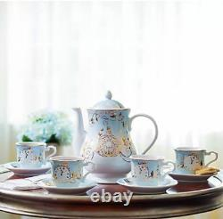 Disney Store Cinderella Tea Set Limited Edition COA Teapot Cups Saucers