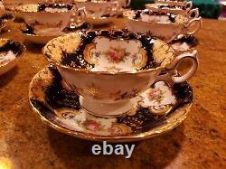 EXQUISITE TIFFANY & CO. MINTONS TEA SET FOR 12 With DESERT PLATES museum quality