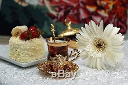 First Quality Traditional Handmade Turkish Ottoman Antique Copper Tea Set
