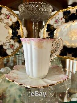 Foley Pre Shelley Wileman CUP & SAUCER RARE Antique 1893 Dainty Pink Empire Ivy