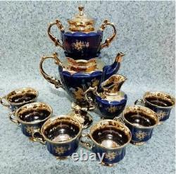 Handmade Ceramic Tea-Set Royal Cobalt for 6 persons