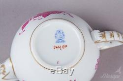 Herend Chinese Bouquet Raspberry Tea Set for Six People, 17 Pieces