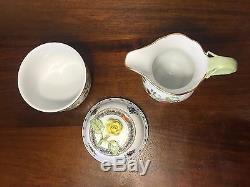 Herend INDIAN BASKET Multi-Color Tea Set for Two Tea Pot Sugar Creamer